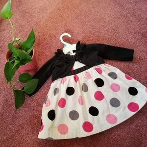 Carter's 3-piece Formal Polka Dot Dress 6 Months